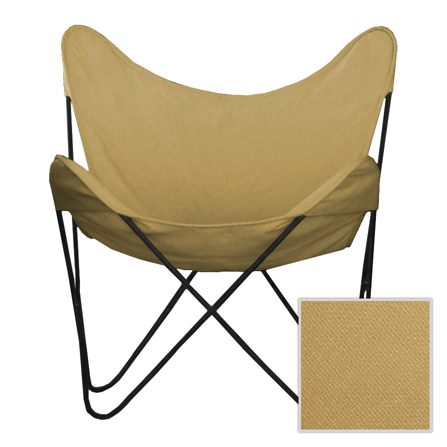 Exceptionnel Barley Brown Canvas Butterfly Chair